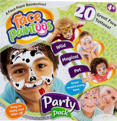 Paintoos are a great alternative to face painting and easy to remove.