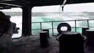 9RAW: Ship battles monster waves in search of missing sub