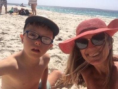 Natalie and Max at the beach