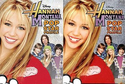 Miley Cyrus aka Hannah Montana gained porcelain veneers on the DVD cover of the show in 2008.