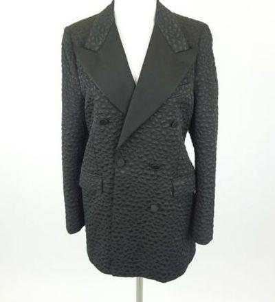 """Kim Kardashian West <a href=""""https://www.ebay.com/itm/Kim-Kardashian-West-A-SAUVAGE-Black-Spotted-Designer-Blazer-Size-42-R/202220563879?_trkparms=%26rpp_cid%3D58a24ca2e4b0fa4552d36ff2%26rpp_icid%3D58a24b82e4b04206a7b801b5"""" target=""""_blank"""">A. SAUVAGE Black Spotted Designer Blazer</a> Size 42, current bid, $60.66"""