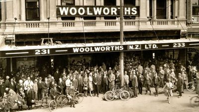 The grand opening day of Woolworths, Christchurch NZ. 7th March 1930. (Supplied)