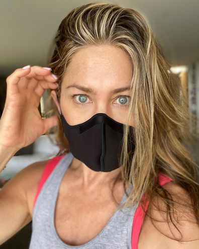 Celebrities, wearing face masks, coronavirus pandemic, Jennifer Aniston