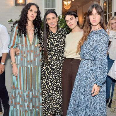 Demi Moore with daughters Rumer, Tallulah and Scout at a party to promote her book.