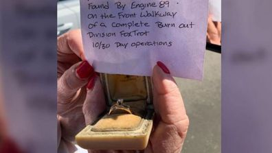Getty fire wedding ring discovered by LA firefighters 2
