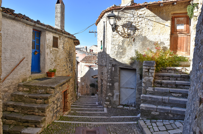 The old Molise town of Castropignano, Italy.