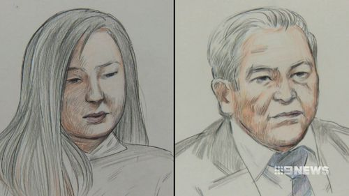 Tiffany Yiting Wan, 25, and her father Ah Ping Ban, 65, are on trial in the West Australian Supreme Court accused of murdering 58-year-old Annabelle Chen in 2016. (9news)