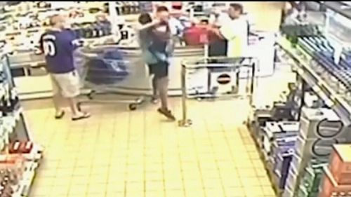Davidson ran up to the counter and demanded money, before hitting the cashier in her head with the bat.