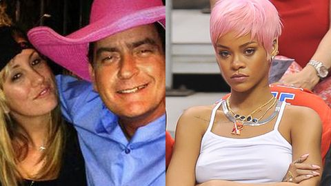 Charlie Sheen Scottine Rihanna