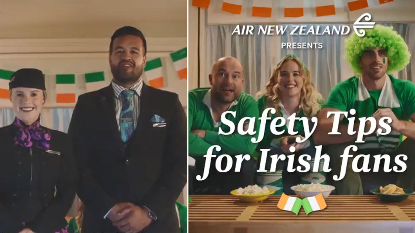 Air New Zealand poke fun at Ireland's rugby team