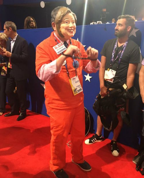A Donald Trump supporter at the Republican National Convention. (Laura Turner/9NEWS)