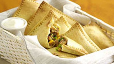 """Spicy bean turnovers - <a href=""""http://kitchen.nine.com.au/2016/05/19/13/40/spicy-bean-turnovers"""" target=""""_top"""" draggable=""""false"""">view recipe</a>"""