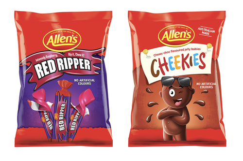 Allens have changed the names of its Red Skins and Chicos lollies to Red Ripper and Cheekies.