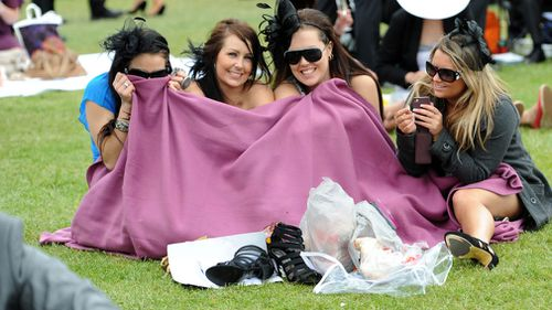 Temperatures at Flemington tomorrow will be 7 degrees below average. (AAP)