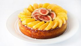 Orange and almond celebration cake