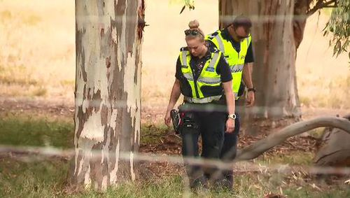 Police search shrub close to La Trobe University where Aiia had chosen to study because it was such a nice, quiet place.
