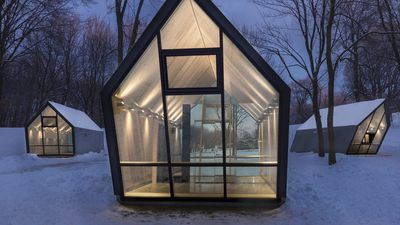 These cosy cabins might look normal: But you'll be stunned by side view