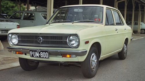 The Datsun driven by missing Brisbane woman Gaye Baker when she went to meet a man who booked her services through a hostess agency in Brisbane in 1972.