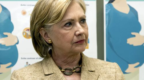 Hillary Clinton could be stopped by 'Second Amendment People', Trump said. (AAP)