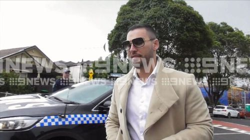 Salim Mehajer was at his Lidcombe property during the raid. Picture: 9NEWS
