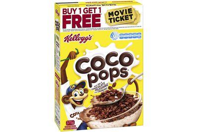 Coco Pops: 18g sugar per 30g serve (with milk)