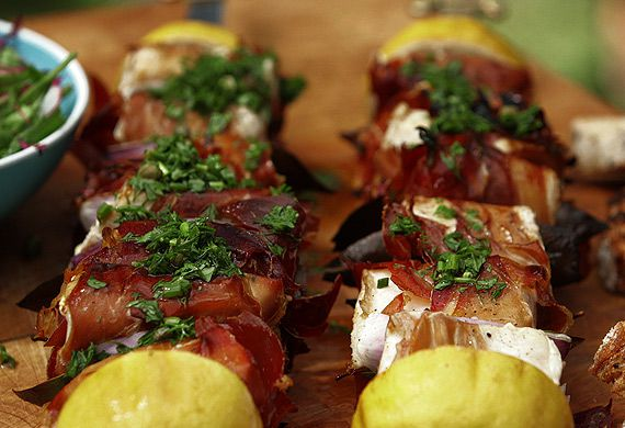 Colin Magee's barbecued swordfish skewers