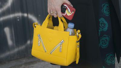 Kenzo Gommato Leather Mini Kalifornia Tote Bag