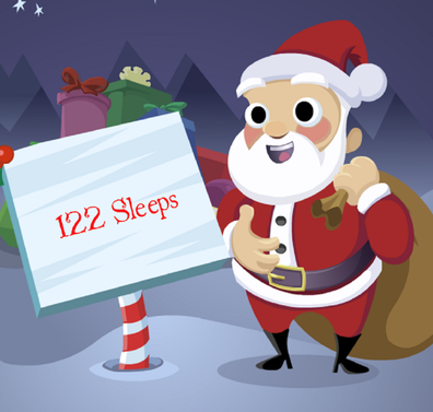 There are just 122 sleeps until Christmas.