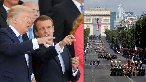 Trump attends Bastille Day parade