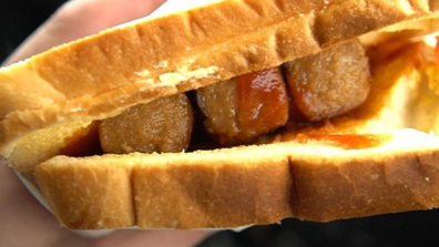Three sausages layered between white bread is a crime in Josh Eastwell's eyes.