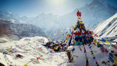 <strong>Trek to base camp at Everest, Nepal</strong>