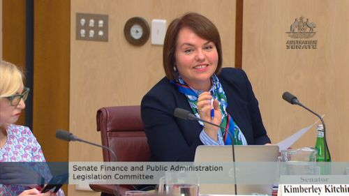 A senate committee today hear Parliament House has a new 'fake hawk' to scare off the plucky birds.