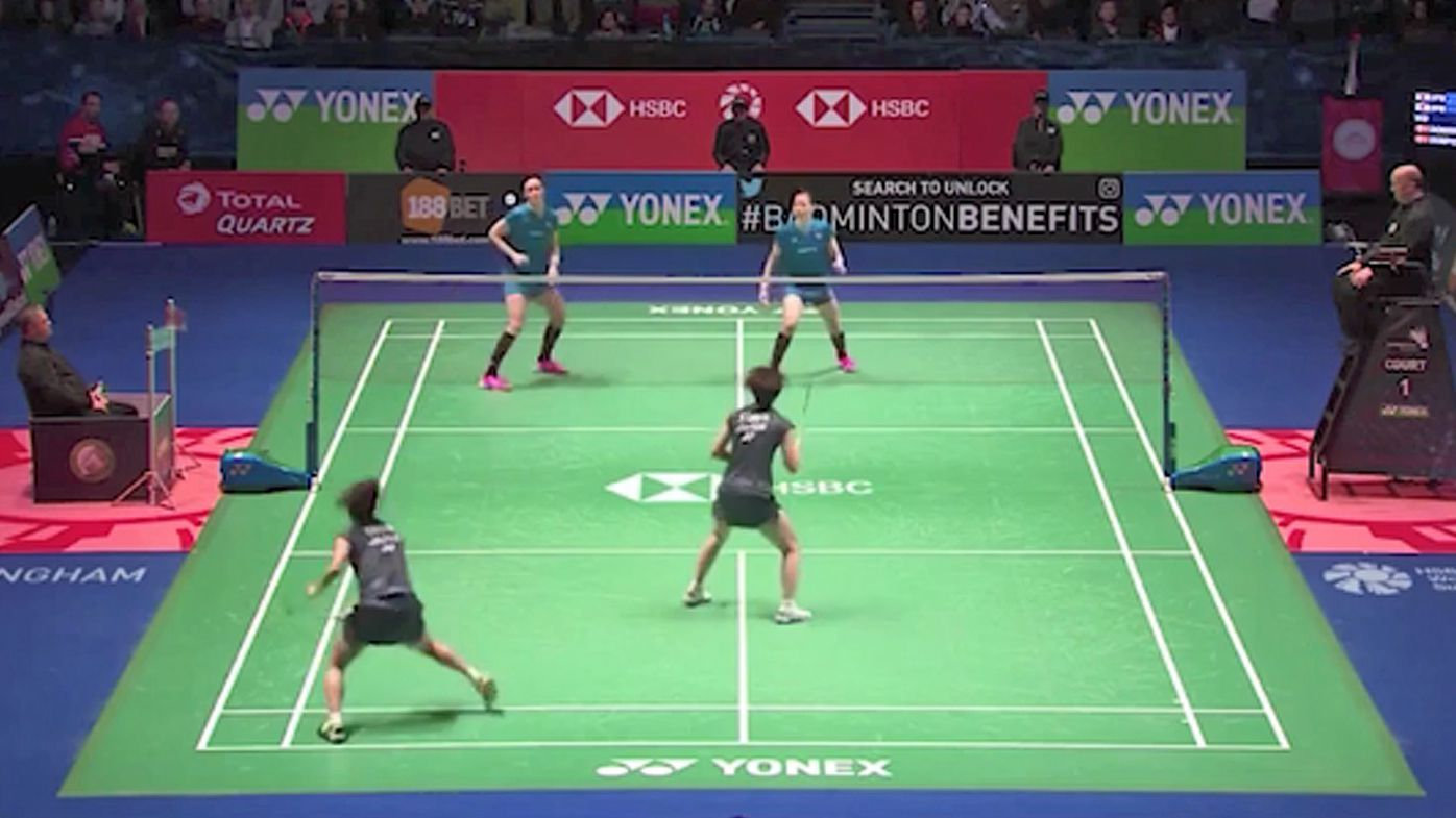 Epic 102-shot badminton rally had everyone on the edge of their seat