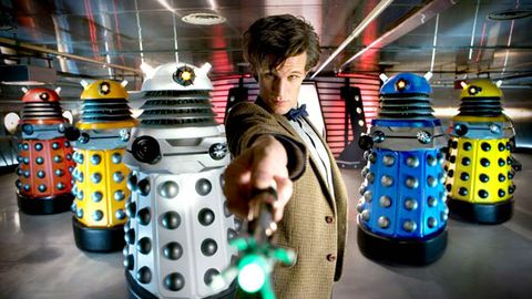 Doctor Who exterminates the Daleks