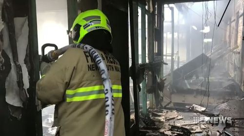 Fire crews worked through the day to fully extinguish the blaze. (9NEWS)