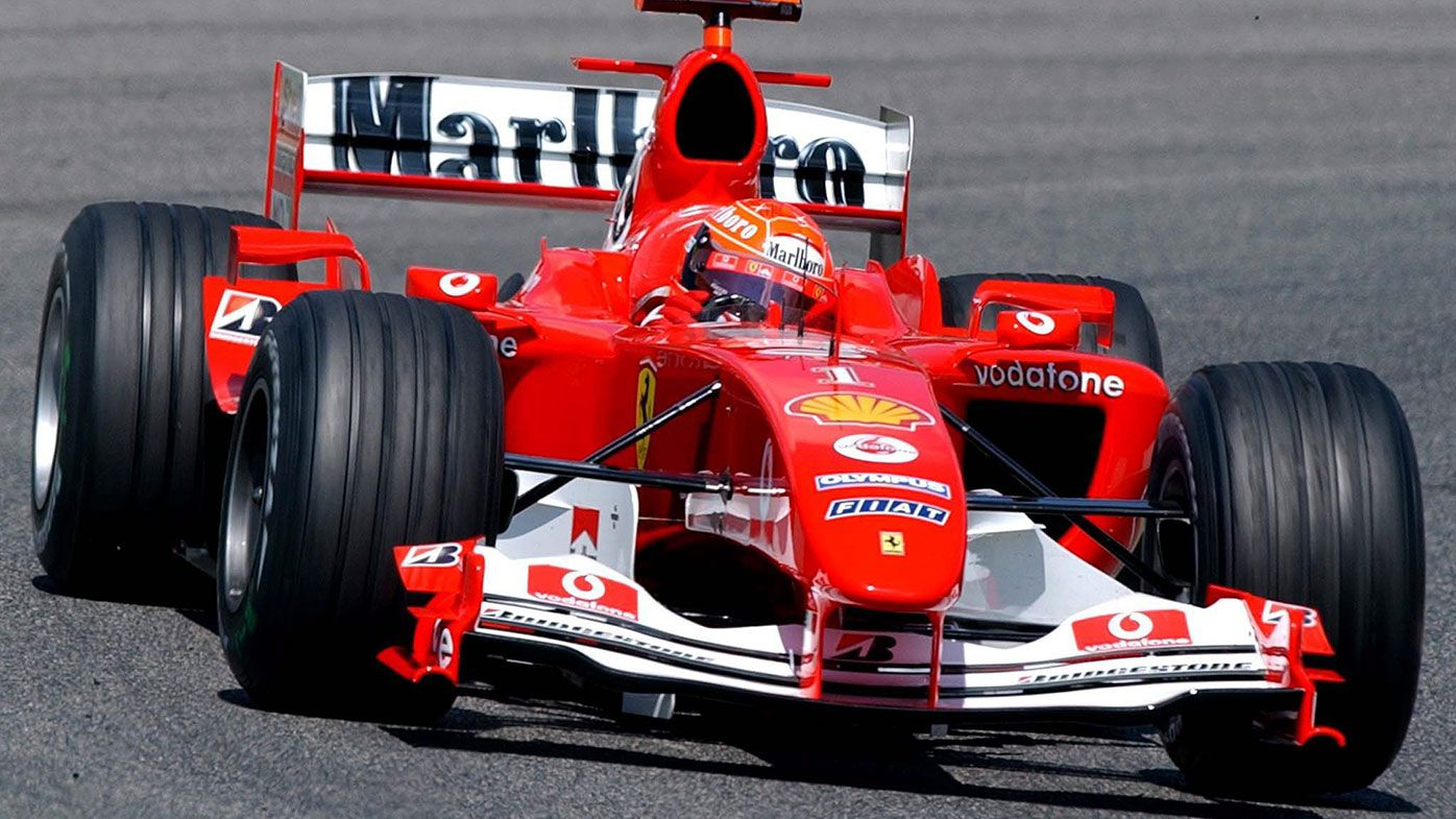 Michael Schumacher in action during the 2004 season.