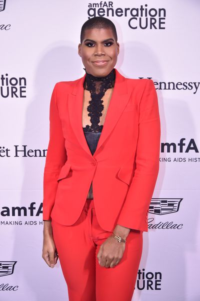 EJ Johnson at the 2016 amfAR GenerationCure Holiday Party, December 7, 2016, New York