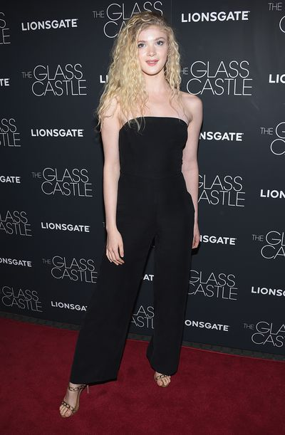 Elena Kampouris&nbsp;at the premier of&nbsp;<em>The Glass Castle</em>.
