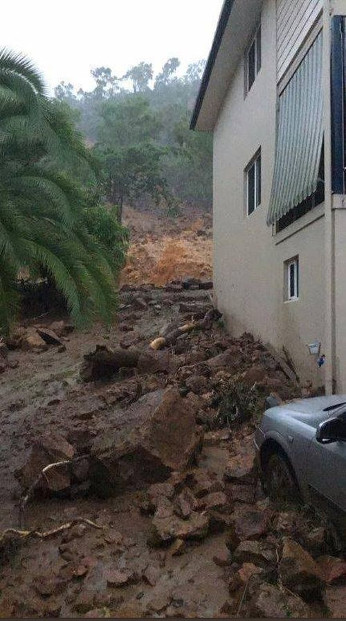 Residents self-evacuated after a landslip in Mueller Street.