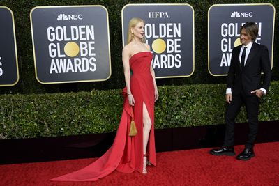 Nicole Kidman and Keith Urban at the 2020 Golden Globes.