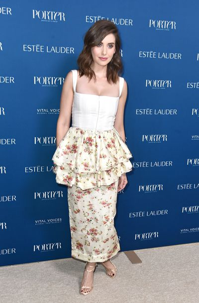 Alison Brie attends PORTER's Third Annual Incredible Women Gala at The Ebell of Los Angeles on October 9, 2018 in Los Angeles, California