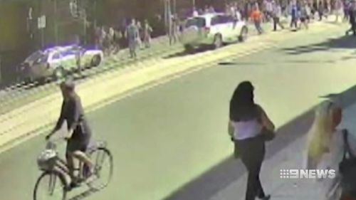 The court was played CCTV of the moment the car hit the crowd.