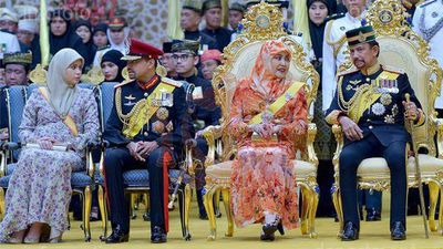Members of the Brunei royal family. (Supplied: Information Department Brunei)