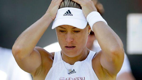World No.1 Angelique Kerber during her second Monday match at Wimbledon. (AFP)