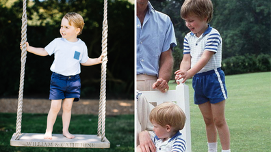 Prince George twinning with his dad Prince William