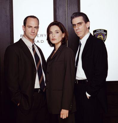 Christopher Meloni as Detective Elliot Stabler, Mariska Hargitay as Detective Olivia Benson, Richard Belzer as Detective John Munch.