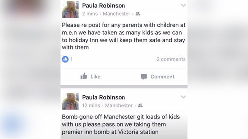 An employee at an inn near the arena confirmed they've also taken in lost children. (Facebook)