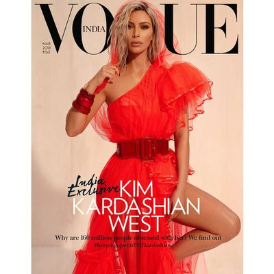 """Kim Kardashian's latest <em>Vogue</em> reincarnation sees the reality star pull on a sari for the Indian edition of the fashion bible,but it's not the bejewelled garb that's seized our attention.<br /> <a href=""""https://www.vogue.in/content/exclusive-kim-kardashian-wests-first-ever-interview-with-vogue-india-march-2018-cover-story/"""" target=""""_blank""""><br /> In an interview with Indian-American author, Mira Jacob,</a> the mother-of-three revealed that it's the mistakes she made at the beginning of her career that helped her rise to the top of the fame game.<br /> <br /> """"I didn't think [the show] would go beyond season 1 or 2. And then as things were happening, my mom and I were so excited,"""" said Kardashian. <br /> <br /> """"We didn't even know what we were starting, but we knew we were in it together. We made so many mistakes. At first, we would be involved in anything. But it helped us work our way up to now, to launching a beauty brand completely by myself, and funding it,""""<br /> <br /> Ten years later, after the family debuted <em>Keeping up With The Kardashians</em> on the E! network, their empire has grown to include multiple beauty lines, clothing ranges, apps, books, tech games and tens of millions of followers on Twitter and Instagram.<br /> <br /> Mrs West's advice to young woman entrepreneurs wanting to follow in their footsteps?<br /> <br /> """"Don't give your name away. Stand your ground on being an owner in your company,"""" said Kardashian.<br /> <br /> The 37-year-old has made multiple appearances on the cover of International <em>Vogues</em> including Australia, Spain, Brazil and US. <br /> <br /> Take a look back at some of Kim's most memorable magazine covers. <br />"""