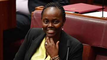 Liberal Senator Lucy Gichuhi in the Senate chamber at Parliament House today. Picture: AAP