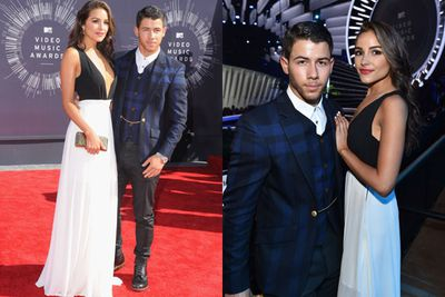 Now these two are a fetching pair - former Jonas Brothers singer Nick and his 2012 Miss Universe girlfriend Olivia Culpo. Nick's ex-girlfriend is Delta Goodrem - he's got great taste.